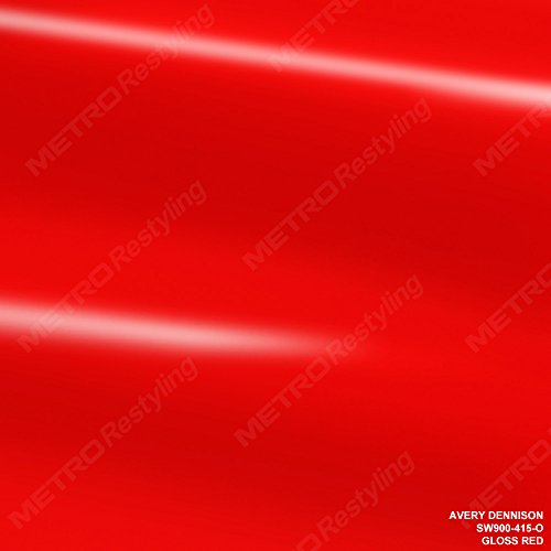 Avery SW900-415-O GLOSS RED 3in x 5in (SAMPLE SIZE) Supreme