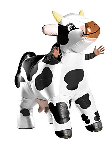 Rubie's Unisex-Adult's Standard Moo The Cow Inflatable Costume, as as Shown, Standard -