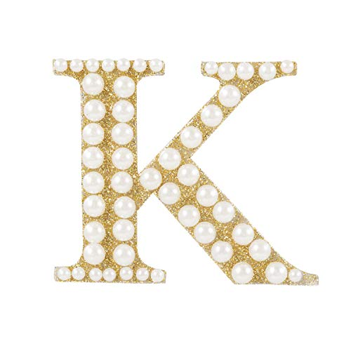 Darice 30053617 Letter K Sticker Gold