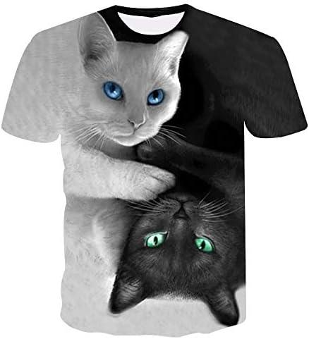 GJCDGPZTX 3D T-Shirt Gato Blanco Y Negro. Ocio. Ropa De Caballero. Camisa. Mangas Cortas. Vestido De Verano. Camiseta 3D. Venta Al por Mayor: Amazon.es: Deportes y aire libre