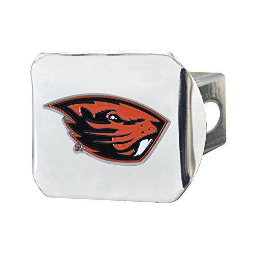 CC Sports Decor NCAA Oregon State University Beavers Color Class III Hitch - Chrome Hitch Cover Auto Accessory