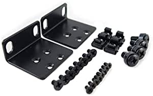 """RoutersWholesale Rack Mount Kit Compatible with Many 17.3"""" Wide Buffalo Tech, Cisco, Dell, D-Link, Linksys, NETGEAR, and TRENDnet Products"""