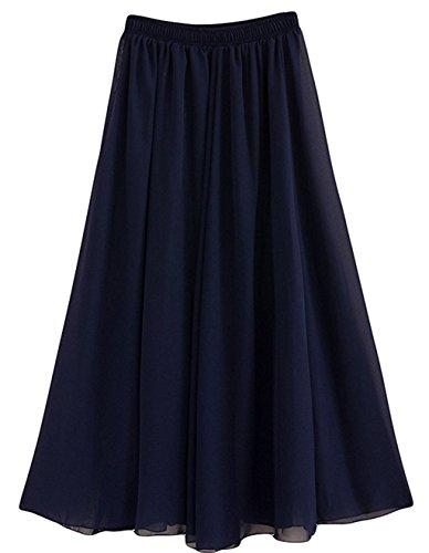 longue Marine Femme CoutureBridal d't Jupe Chiffon Ceinture Jupe Bleu Elastic 90cm qEwwvPO
