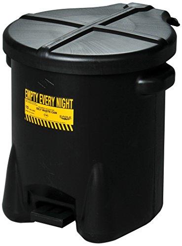 Eagle 935FLBK Black Oily Waste Can, 10 gal Capacity -