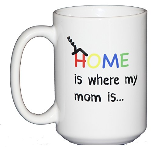 Handmade 15oz Home is Where my Mom Is Coffee Mug (Glitter Mom)