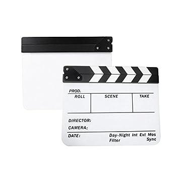 Andoer® Acrílico 9.6 x 11.7 Pulgadas Claqueta de Cine ...