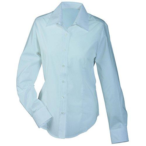 chemise JAMES longues manches Blanc lger amp; JN602 facile NICHOLSON repassage Femme chemisier AqFEwR7xA