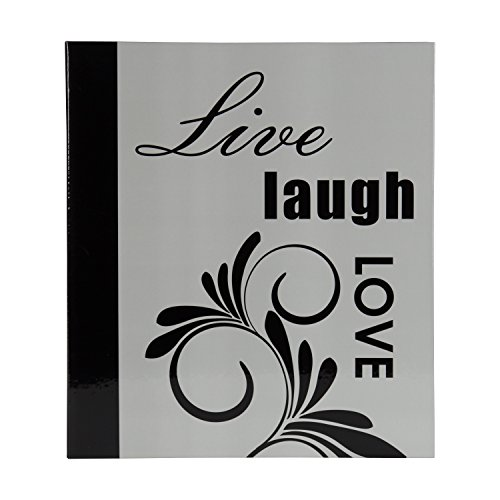 DesignOvation Live Laugh Love Expression Photo Album, Holds 440 4x6 Photos, Set of 4 by DesignOvation (Image #1)'