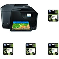 HP OfficeJet Pro 8710 Wireless All-in-One Photo Printer with Mobile Printingwith XL Ink Bundle