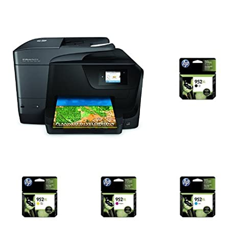 HP OfficeJet Pro 8710 Wireless All-in-One Photo Printer with Mobile  Printing with XL Ink Bundle