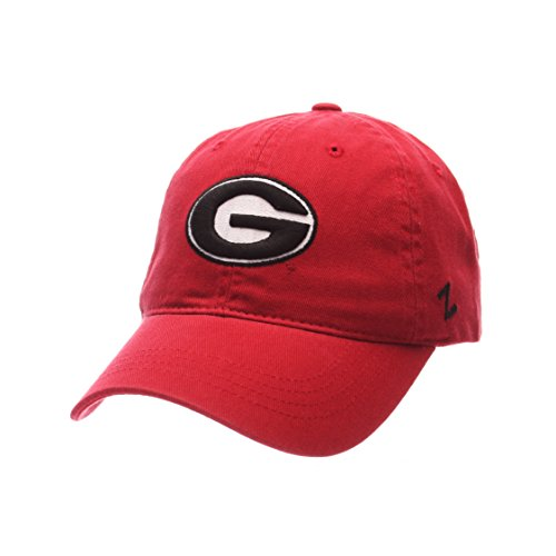 Zephyr Georgia Bulldogs Scholarship Relaxed Fit Dad Cap - NCAA, Adjustable One Size Red Baseball (Bulldogs One Fit Cap)