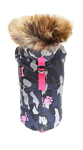 Puppy Angel Army Barmy mit Reißverschluss Hunde Parka