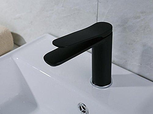 Mkkwp Modernes Badezimmer Matt Schwarz Becken Wasserhahn Höhe Qualität Kalt Und Warm Waschbecken Wasserhahn Einzigen Handgriff Wasserhahn