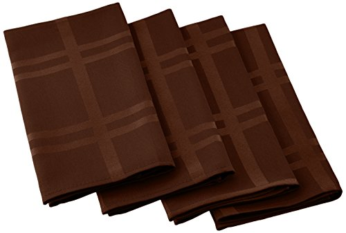 (Cuisinart Easy Care Spill-Proof Formal Microfiber Fabric Dinner Napkin, 4-Pack, Brown)