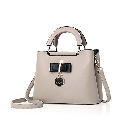 Casual New amp;DORIS Bag 2018 Handbag Hardware Girls Shoulder NICOLE Bag Pendant Tote Black Bag PU Khaki Fashoin for Crossbody Women BEW8WAqx
