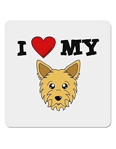 TooLoud I Heart My - Cute Yorkshire Terrier Yorkie Dog 4x4 Square ()