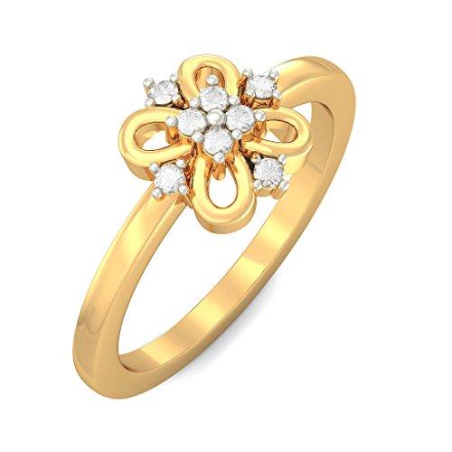 14K Or jaune, 0,12carat Diamant Blanc (IJ | SI) en diamant