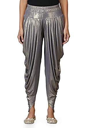 Legis Shimmer Blend Relaxed Comfortable Dhoti Pants Yoga Fitness Active Wear for Women Dance - Free Size i