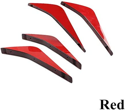 L.P.L 4本リヤバンパー下部エアディフューザーフィンスプリッタボディスポイラーキットC-H-E-V-R-O-L-E-TコルベットC7 2014年から2019年のために (Color : レッド, Size : フリー)