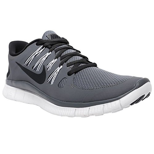 58bd6fda8c8a7 Nike Men s Free 5.0+ Breathe Running Cool Grey   Anthracite   White  Synthetic Shoe - 6 D(M) US