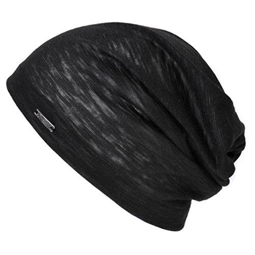 CHARM Casualbox   Mens Womens Beanie Hat Summer Cotton Thin Light Slouchy Unisex Sweat Black by CHARM