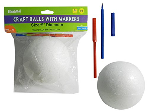 1 PC Craft Ball, 5'' Dia 2 Bonus Markers Included! , Case of 96