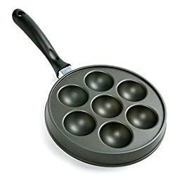 Norpro Nonstick Cast Aluminum Danish Aebleskiver Filled Pancake Pastry Pan New
