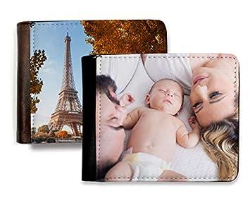 Cartera de Hombre Personalizada con Fotos y Texto | Máxima Calidad de impresión | Espacio para