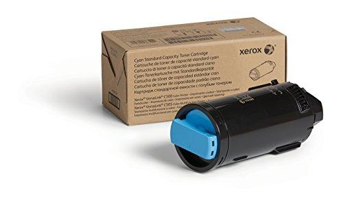 Genuine Xerox Cyan Standard Capacity Toner Cartridge (106R03859) - 2,400 Pages for use in VersaLink C500/C505