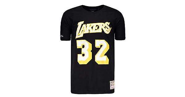 f2211f13f Camisa Mitchell   Ness NBA Los Angeles Lakers Preta  Amazon.com.br   Esportes e Aventura