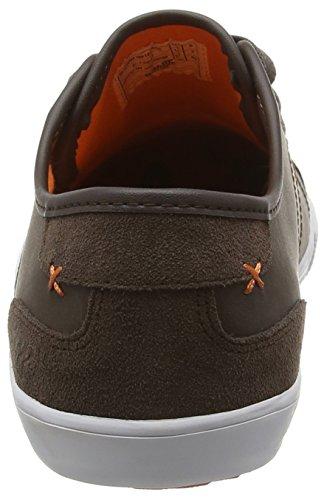 BoxfreshMITCHAM SM LEA/SDE DK BRN/ORG - Zapatillas hombre Brown (Dark Brown/Orange)