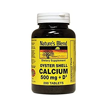 Natures Blend Oyster Shell Calcium 500 mg with D3 200 Tabs