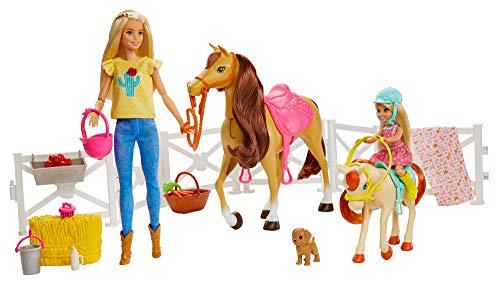 Mattel Barbie Hugs N Horses Playset, Blonde