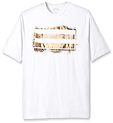 Sean John Men's Big-Tall Short Sleeve Spray Flag T-Shirt