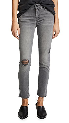 MOTHER Women's Looker Skinny Ankle Fray Jeans, Last Chance Saloon, 31 (Denim Fray)