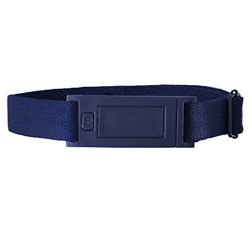 Beltaway NARROW Women's Belt, Skinny No Show Adjustable Stretch Belt DENIM One Size - Adjustable Loop Belt