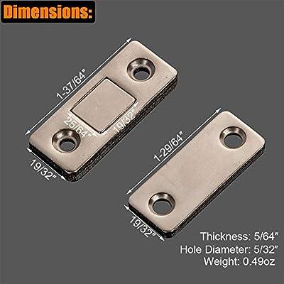 HWMATE Imanes de hierro ultrafinos para puerta de armario, cierre ...