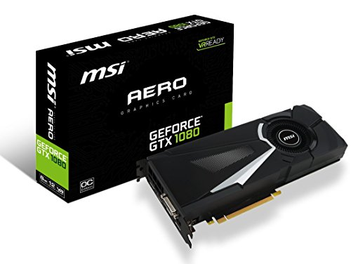 MSI Gaming GeForce GTX 1080 8GB GDDR5X SLI DirectX 12 VR Ready Graphics Card (GTX 1080 AERO 8G OC) (Dual Video Cards Sli)