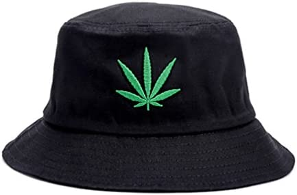 Weed Bucket Hat Summer Cap Cannabis Leaf Stoner Hat Hemp Hip Hop Unisex Wear