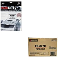 KITKYOTK827KREARR1237 - Value Kit - Kyocera TK827K Toner (KYOTK827K) and Read Right PathKleen Printer Roller Cleaner Sheets (REARR1237)