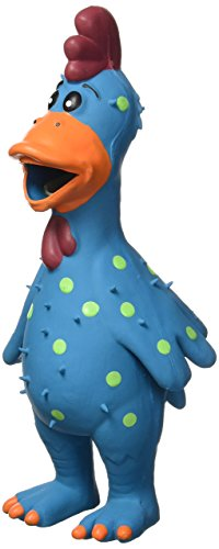Chicken Dog Toy - Multipet 11.5-Inch Latex Polka Dot Globken Chicken Dog Toy