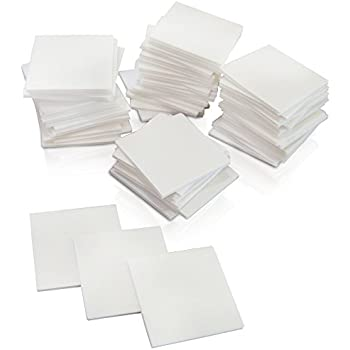 3L Repositionable Permanent Mounting Squares 500pk 1//2-Inch x 1//2-Inch White