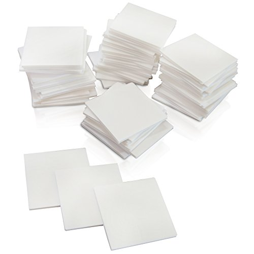 XFasten Double Sided Adhesive Mounting Squares, 1 Inch, Pack of 80