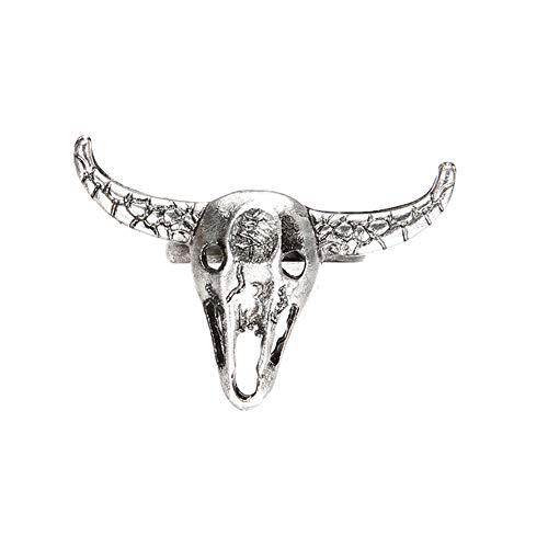 CHoppyWAVE Ring Vintage Simple Hollow Cow Head Skull Women Men Open Finger Ring Jewelry Gifts - Antique Silver