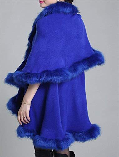 Chic D'extérieur Unie Fourrure Couleur En Hiver Châle Irrégulier De Blau Élégant Vêtements Le Bonne Qualité Femme Mode Battercake Laineux Etole vqUwxPtt