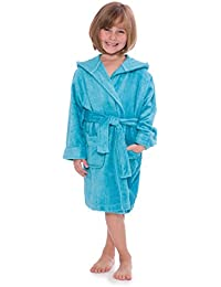 Kid's Hooded Terry Cloth Bathrobe - Cozy Robe by for Kids Texere (Rub-A-Dub)
