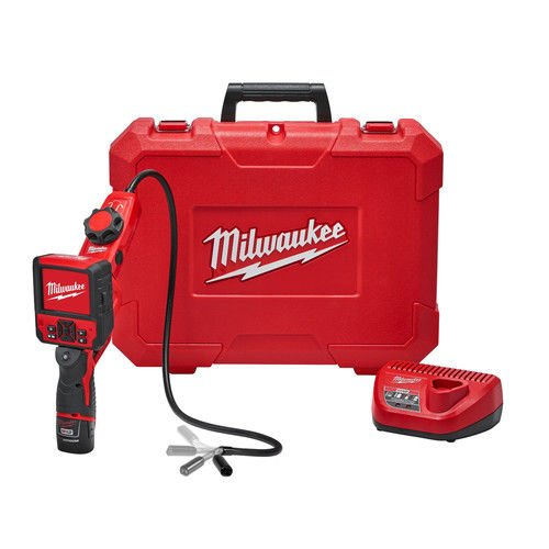 Milwaukee Electric Tool 2317-21 Milwaukee M12 M-Spector Flex Inspection Camera Cable with Pivotview Kit, 3', Plastic, 13.58' x 5.35' x 17.28'