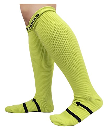 Compression Support Socks for Men & Women AILIZI Recovery & Performance Sports Compression Socks - Neon Green
