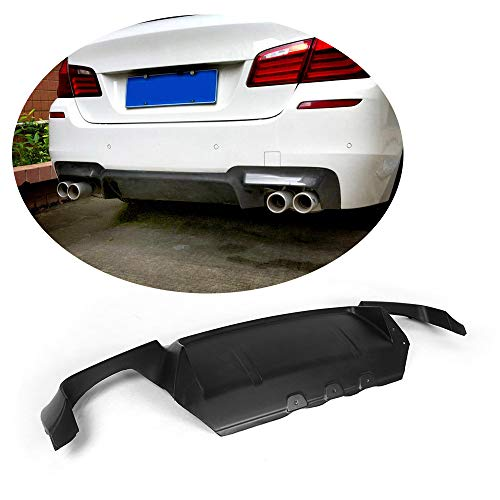 (MCARCAR KIT For BMW 5 Series F10 M5 2011-2017 Factory CNC Moulding Carbon Fiber Rear Bumper Lower Diffuser Protector Kit (O Look Fiberglass Rear Diffuser))