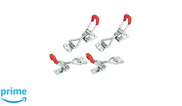 2Pcs 4001 Toggle Latch 220Lb Triangle Little Clamp Box Capacity Quick Holding Drawer Lever Hasp Suit 100Kg